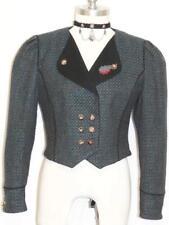 "BLACK & BLUE WOOL JACKET Coat German Fitted Short 4 6 S B36"""