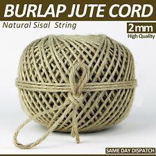 10 Meter %100 Jute Cord 4 Ply Natural Sisal Hessian Burlap Twine String Cord 2mm