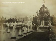 1889 Paris Exposition Fontaine Monumentale Expo France Antique Original Photo