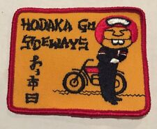 Vintage Patch NOS Hodaka Go Sideways  Motorcycles Biker 70s Rat Hot Rod Funny