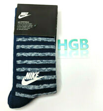 Nike Sportswear Crew Socks Mens Blue White Training SX5768-429 Size L 8-12 NWT