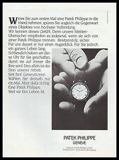 Publicité Montre PATEK Philippe  Watch photo vintage print ad  1986 -3 h