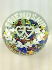 """Vintage Lovely """"Friendship"""" with Hearts and Arrow Paperweight"""
