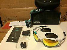 NEW Oakley 30 Years Racing Jacket Polished White 2 set lens Fire Black OO9171-24