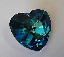 Preciosa European 40mm Heart Crystal Suncatcher - Bermuda Blue