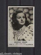 Jeanne Crain Vintage Movie Film Star Trading Photo Card Illustra A #22