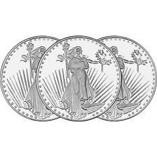 St. Gauden 1oz Round Struck in .999 Fine Silver by SilverTowne (3pc)