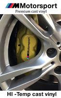 Set of 4x BMW M Motorsport Brake Caliper Decal Sticker fits M series 320 520 318