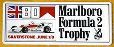 1980 Marlboro Formula 2 Trophy carrera de Silverstone Motorsport ETIQUETA / ETIQUETA