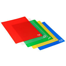 Chopping Boards Set Of 5  Flexible Red Green Yellow Blue And Clear W38 x D31cm