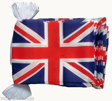 UNION JACK FLAG BUNTING 9 metres 30 FLAGS UK BRITAIN