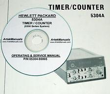 HP Hewlett Packard 5304A Timer Counter, Operating & Service Manual w/schematics