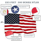 Anley EverStrong American US Flag Heavy Duty Nylon - Embroidered Stars USA Flags