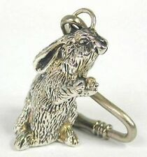 Silver Bunny Key Chain | Animal Key Ring 925 Sterling Silver Collectibles Gift