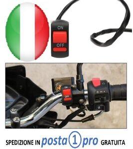 Switch PULSANTE INTERRUTTORE TASTO MOTO ON OFF 2 FILI SCOOTER FRECCE LUCI FARI