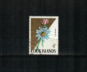 COOK ISLANDS Scott's 205 ( 1v ) Water Lily F/VF Used ( 1967 )