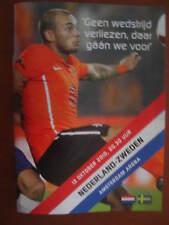 Programme / Programma Holland v Sweden 12-10-2010 EURO 2012 Wesley Sneijder