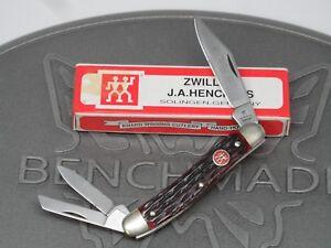 Vintage Zwilling J.A. Henckels HK 7-B Red Bone Whittler Solingen Germany Knife
