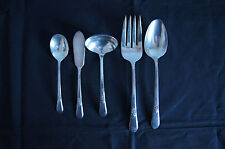 Adoration 1847 Rogers Brothers IS silverplate 5 serving fork spoons gravy ladle