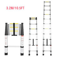 10.5FT Aluminum Telescopic Extension Ladder Extendable Folding Multi-Use Ladders