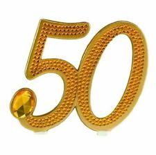 Gilded 50th Anniversary Cake Pick
