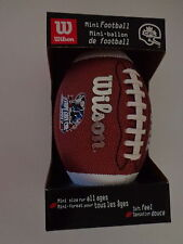 2001 Montreal 89th Grey Cup '01 Mini Football CFL Wilson Sporting Goods with COA