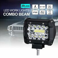 "1Pair 4"" Inch LED Work Light Flood Spot Combo Off-road Driving Fog Lamp Boat SUV"