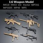 1:6 1/6 Scale Action Figures MK18 HK53 Uzi Vector MP7A1 MP5SD5 MP40 MP5 8PCS/Set