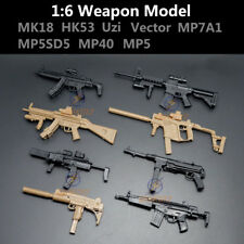 1:6 1/6 Scale Action Figures MK18 HK53 Uzi Vector MP7A1 MP5SD5 MP40 MP5 8PCS/Set