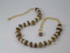 White Freshwater Pearls &  Brandy Quartz Necklace