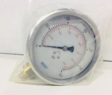 "WIKA 4"" FILLED SS PRESSURE GAUGE~1/2 THREAD~0-600 SCALE RANGE~ONTARIO, CALIF."
