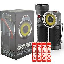 NEBO 6437 CRYKET 3-in-1 LED Work Light / Flash Light Swivel Head w/ 4 Batteries