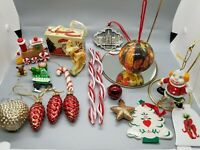 Vintage Ornaments Lot Of 19 with Some Modern/Plastic 009