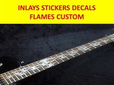 STICKERS GUITAR INLAY FLAMES CUSTOM SILVER VISIT OUR STORE WITH MANY MORE MODELS