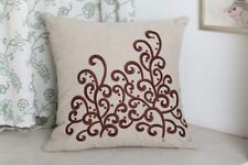 "Embroidered 18x18"" Size Decorative Cushions & Pillows"