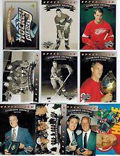 GORDIE HOWE1992-93 UPPER DECK HOCKEY HEROES SET,WITH HEADER BV$20.00