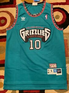 Mike Bibby Hardwood Classics Throwback #10 Teal Mens Jersey Vancouver Grizzlies
