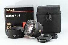 Sigma EX 30mm F1.4 EX DC Lens For Sony Minolta With Original Box and Case