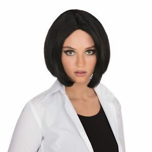 Lady Fancy Club Party Centre Parting Top Short Cut Fake Artificial Wig Black