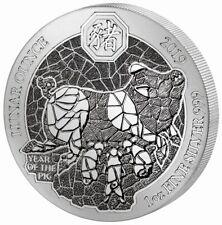 Lunar Jahr des Schwein Year of the Pig 2019 1 OZ Silber Silver Ruanda Rwanda