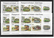 IRLAND 1987 Strassenbahnen Irland 5 x Block 6  **