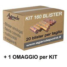 Blister contenitori per monete Euro 160 pezzi assortiti ( 20 pezzi per taglio )i
