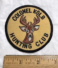Colonel Kolb Hunting Club South Carolina Deer Buck Logo Embroidered Patch