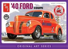 "Amt 1940's '40 Ford Coupe ""Original Art Trophy Series plastic model kit  1/25"