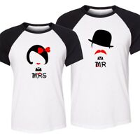 Couple Matching Love T-Shirts -MR And MRS- Gift For Valentines Day Love Romantic