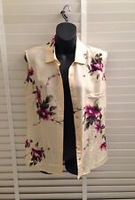 Ladies Silk Blouse, By M&S. Size UK 10~ Floral.Japanese Style~ NEW~ 100% Silk