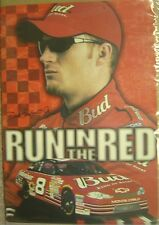 """2001 NASCAR Poster Dale Earnhardt Jr. """"Run in the Red"""" Budweiser Racing"""