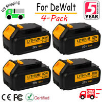 4 x For DeWalt DCB204-2 20V 20 Volt Max XR 4.0 Ah Max Lithium Ion Battery DCB200
