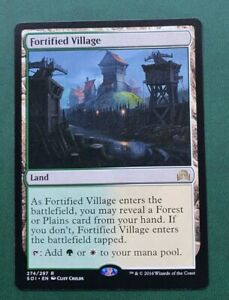 MTG Shadows over Innistrad Rare FORTIFIED VILLAGE NM