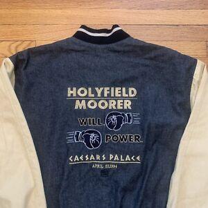 Vintage 1994 Caesars Palace Holyfield Moorer Jacket Boxing Size L